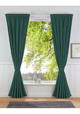 Leonique Vorhang »Velvet-Leonique«, Samt, inkl. Raffhalter, blickdicht, monochrom kaufen