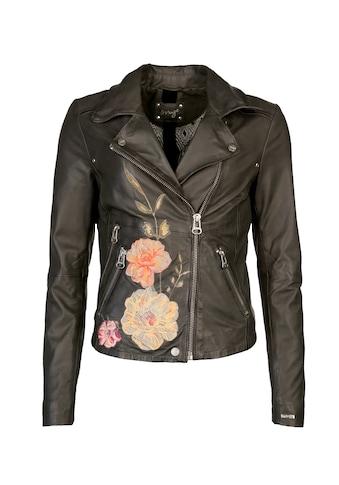 Maze Lederjacke mit trendigem Blumenmuster »Mesita« kaufen