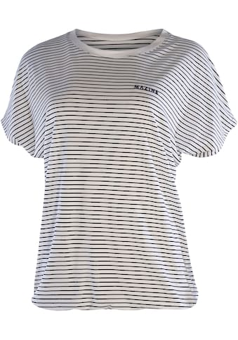 MAZINE T-Shirt »Wylie«, im Ringel-Look mit kleiner Logostickei kaufen