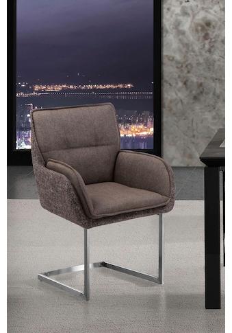 Places of Style Esszimmerstuhl »Durham«, 2er-Set in modernem Design, Sitz und Rücken gepolstert kaufen