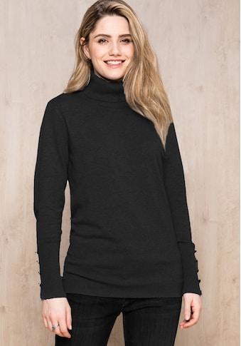 bianca Rollkragenpullover »NOVIS«, in verschiedenen Farben mit Knopfapplikationen kaufen
