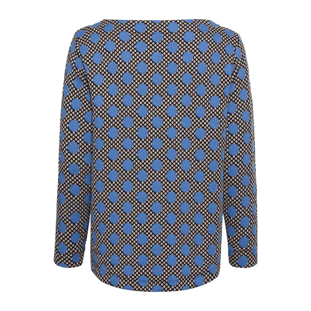 bianca Rundhalsshirt »JULIE«, mit stylischem Punkteprint in aktueller Trendfarbe