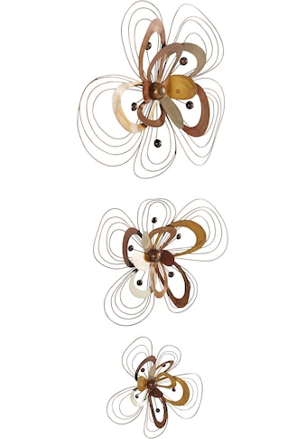 Home affaire Wanddekoobjekt »Blüten«, Wanddeko, aus Metall kaufen