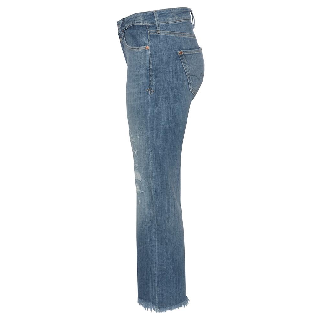 Le Temps Des Cerises Slim-fit-Jeans »Precious«, mit ausgefranster Kante am Saumabschluss