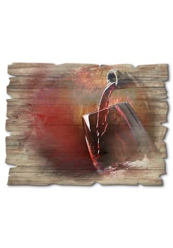 Artland Holzbild »Wein  -  Rotwein« kaufen