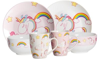"""Ritzenhoff & Breker Kindergeschirr - Set """"Unicorn"""" (6 - tlg.), Porzellan kaufen"""