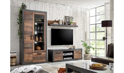 Home affaire Wohnwand »BROOKLYN«, (3 St.), in dekorativer Rahmenoptik kaufen