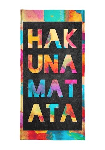 """Strandtuch """"Hakuna Matata 1"""", Juniqe kaufen"""