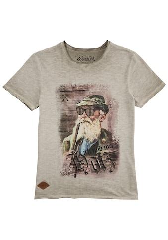 Hangowear Trachtenshirt, mit originellem Motiv und App zum Herunterladen kaufen