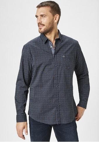 Paddock's Langarmhemd, mit Muster kaufen