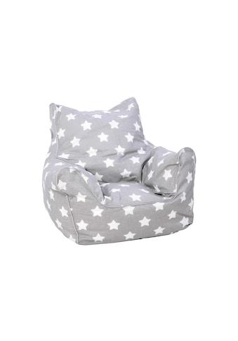 Sitzsack Grau mit weissen Sternen, KNORRTOYS.COM® kaufen