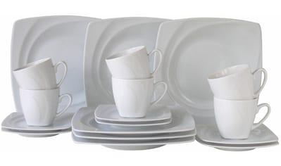 "CreaTable Kaffeeservice ""Celebration"" (18 - tlg.), Porzellan kaufen"