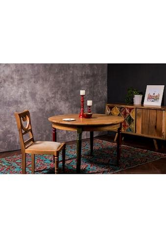 Home affaire Esstisch »Fiore«, mit runder Tischplatte und vier verschieden farbigen... kaufen