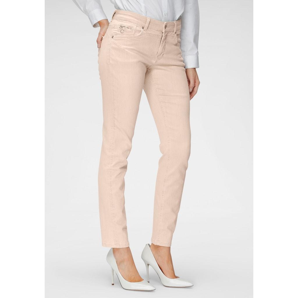 MAC Slim-fit-Jeans »Rich-Slim Terra«, Formgebender Sattel vorne und hinten in besonders ökologischer Waschung