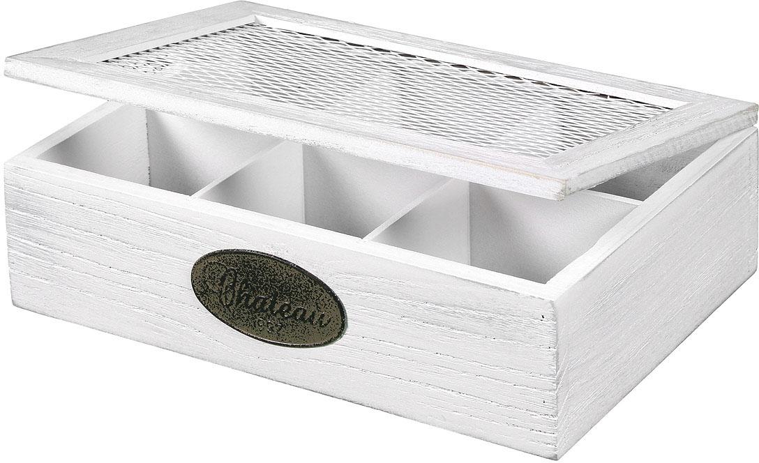 Image of Ambiente Haus Aufbewahrungsbox »Teekaestchen aus Holz 6 Faecher«, (1 St.)