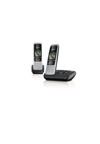 Schnurlostelefon, Gigaset, »C430A Duo  Schwarz Silberfarben« kaufen