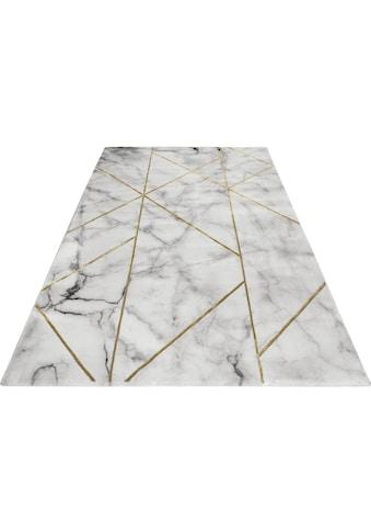 Wecon home Teppich »#M.A.R.B.L.E & G«, rechteckig, 12 mm Höhe, Marmor Struktur,... kaufen