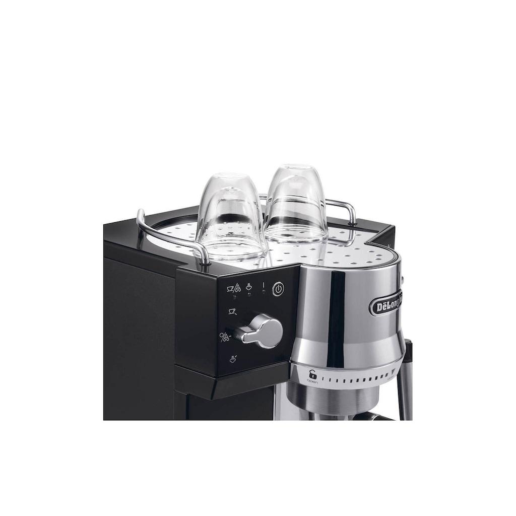 De'Longhi Siebträgermaschine »EC 820.B Schwarz, Silberfarben«