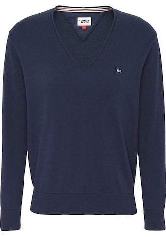 TOMMY JEANS V - Ausschnitt - Pullover »TJW SOFT TOUCH V - NECK SWEATER« kaufen