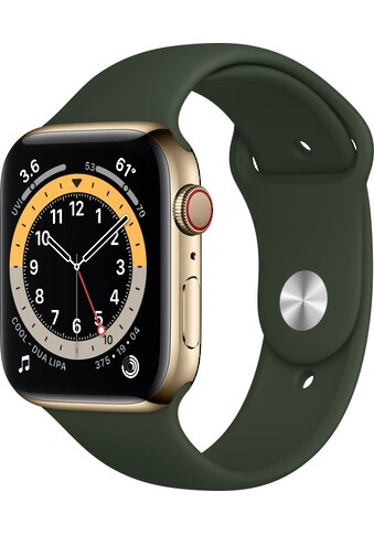 Watch Series 6 GPS + Cellular, Edelstahlgehäuse, 44 mm mit Sportarmband, Apple kaufen