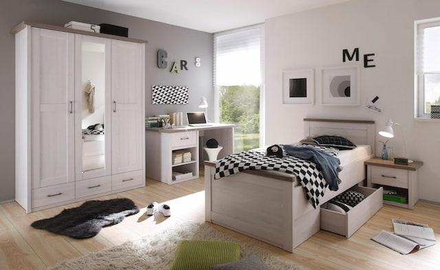 weißes Komplett-Jugendzimmer im Landhausstil