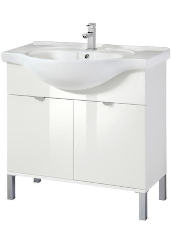 WELLTIME Waschtisch »Malmö«, Waschplatz, 85 cm breit, Bad - Set 2 - tlg. kaufen