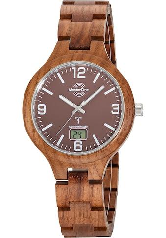 MASTER TIME Funkuhr »Specialist Wood, MTGW-10749-81W« kaufen