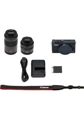 Canon »EOS M200 EFM 15 - 45mm + EFM 55 - 200« Systemkamera (EF - M 15 - 45mm f/3.5 - 6.3 IS STM, EB EF - M55 - 200mm f/4.5 - 6.3 IS STM, 24,1 MP, Bluetooth WLAN (Wi - Fi)) kaufen