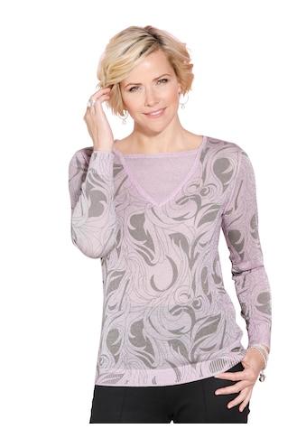 Classic Pullover in angesagter 2 - in - 1 - Optik kaufen
