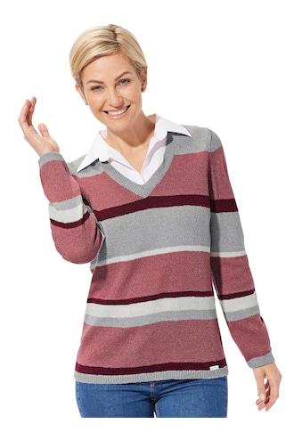 Casual Looks Pullover im leicht meliertem Blockstreifen - Dessin kaufen