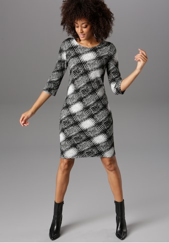 Aniston SELECTED Jerseykleid, elegant gemustert kaufen