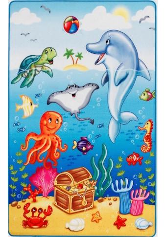 Böing Carpet Kinderteppich »Lovely Kids«, rechteckig, 2 mm Höhe, Motiv Ozean,... kaufen