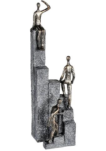 Casablanca by Gilde Dekofigur »Skulptur Climbing, bronzefarben/grau«, Dekoobjekt, Höhe... kaufen