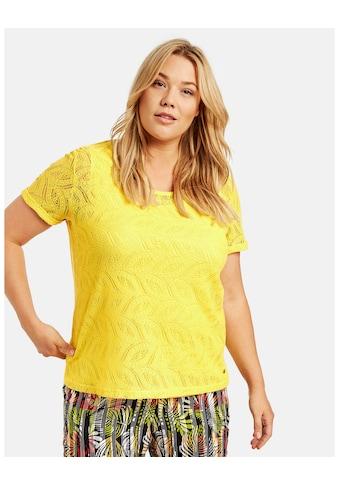 Samoon Rundhalsshirt »Shirt mit Spitzen - Optik« kaufen
