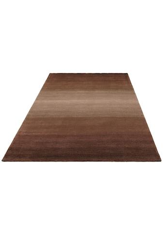 Home affaire Wollteppich »Violetta«, rechteckig, 14 mm Höhe, reine Wolle, handgewebt, weiche Haptik, Wohnzimmer kaufen