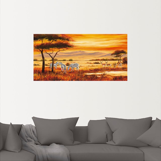 Afrikanische Landschaft Wandbild in verschiedenen Größen