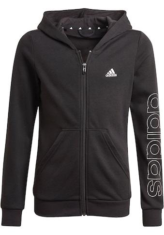adidas Performance Sweatjacke »ADIDAS GIRLS ESSENTIALS LOGO FULL-ZIP HOODIE« kaufen