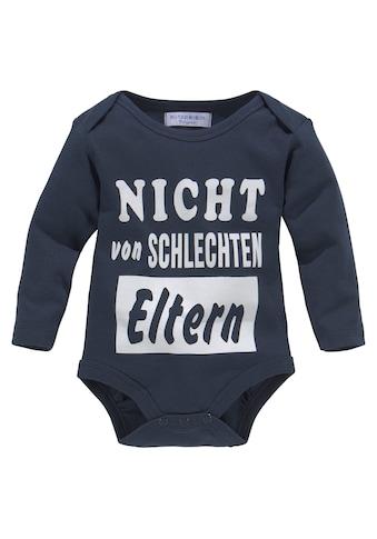 Klitzeklein Langarmbody »Nicht von schlechten Eltern«, aus Bio-Baumwolle kaufen