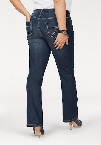 Arizona Bootcut-Jeans »mit Kontrastnähten«, Mid Waist kaufen