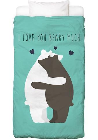 Juniqe Bettwäsche »I Love You Beary Much«, In vielen weiteren Designs erhältlich kaufen