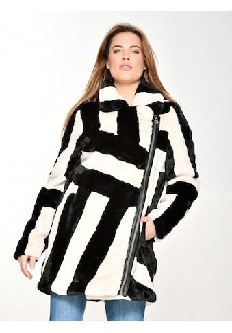 Maze Fake Fur Jacke mit Hemdkragen kaufen