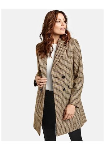 GERRY WEBER Mantel Wolle »Karierter Mantel« kaufen