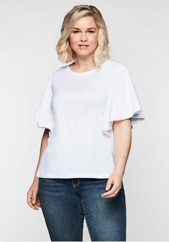 Sheego T-Shirt, mit Flügelärmeln und Spitze kaufen