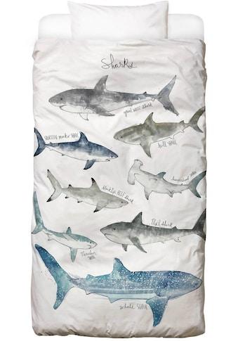 Juniqe Bettwäsche »Sharks«, In vielen weiteren Designs erhältlich kaufen