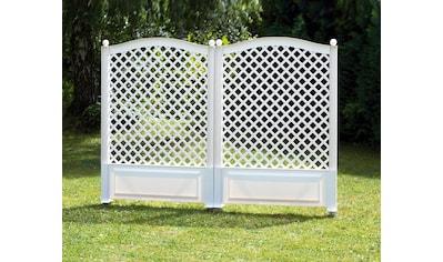 KHW Spalier BxTxH: 100x6x140 cm, weiss kaufen