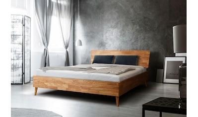 Home affaire Massivholzbett »Scandi«, aus massivem Eichenholz, mit Holzfüssen, in zwei... kaufen