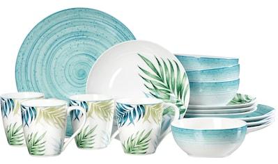Ritzenhoff & Breker Kombiservice »Aruba«, (Set, 16 tlg.), Palmblätter-Dekor im Mix mit... kaufen