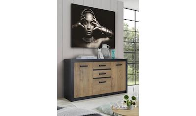 my home Sideboard »Bruegge«, Mit einer dekorativen Rahmenoptik kaufen