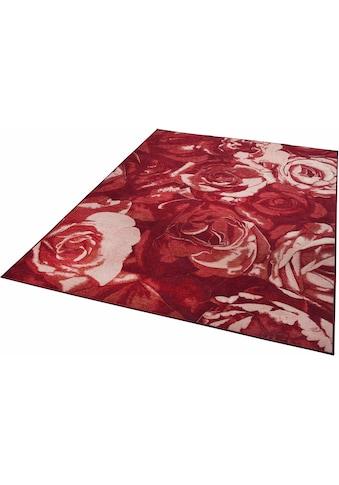 THEKO Teppich »Flomi Rose«, rechteckig, 4 mm Höhe, Flachgewebe, Wohnzimmer kaufen