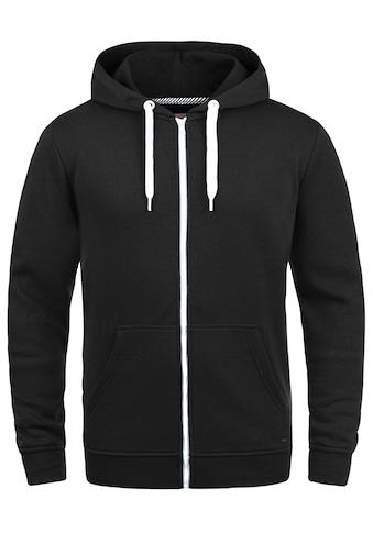 Solid Kapuzensweatjacke »Olli ZipHood«, Sweatshirtjacke mit kontrastfarbenen... kaufen